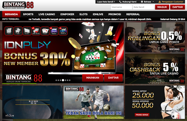BANDAR JUDI SLOT GAME ONLINE TERBAIK TERPERCAYA BINTANG88