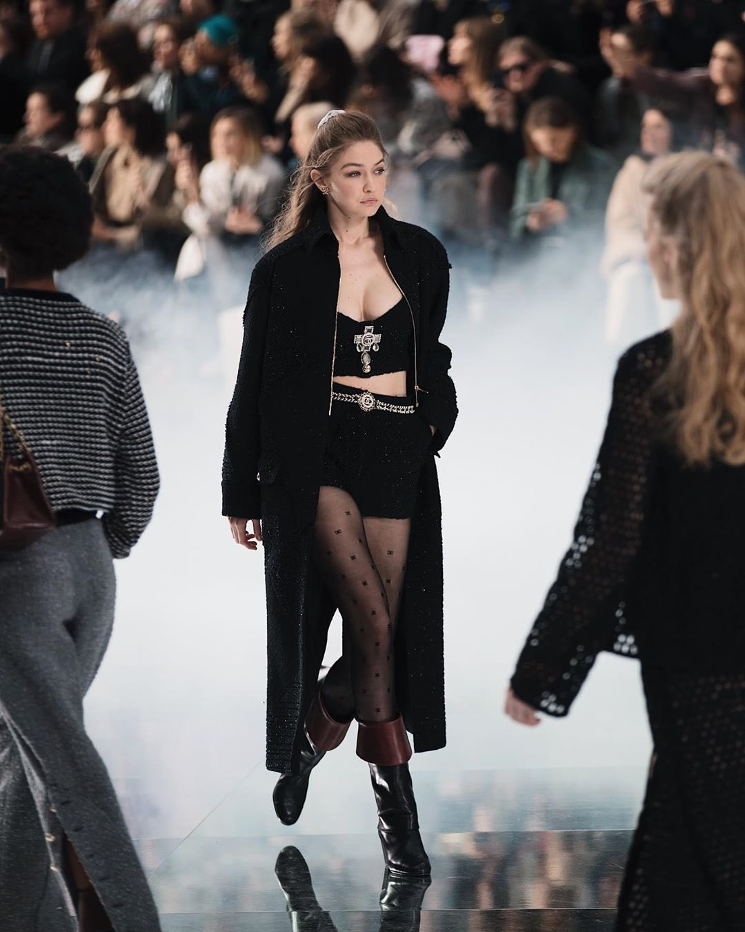 gigi hadid at chanel fw20