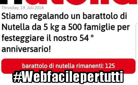 WhatsApp - Attenti Alla Truffa Del Barattolo di 5 Kg Di Nutella