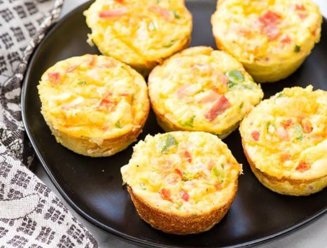 Omelette Muffins #healthy #breakfast