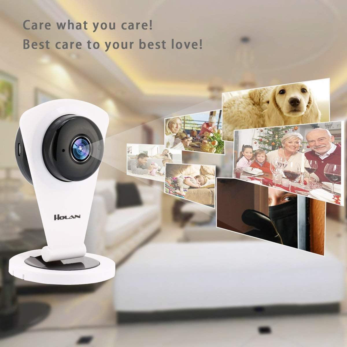 new holan 720p wifi ip security camera home surveillance. Black Bedroom Furniture Sets. Home Design Ideas