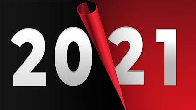 2021 Red black background