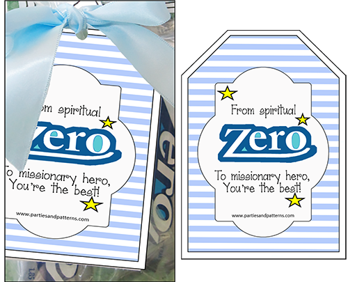 """Missionary Candy Sayings """"ZERO"""" - Parties and Patterns"""