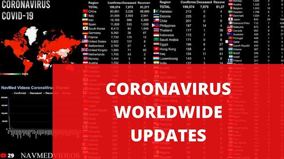 Coronavirus Live Map Real-Time Latest Worldwide COVID-19
