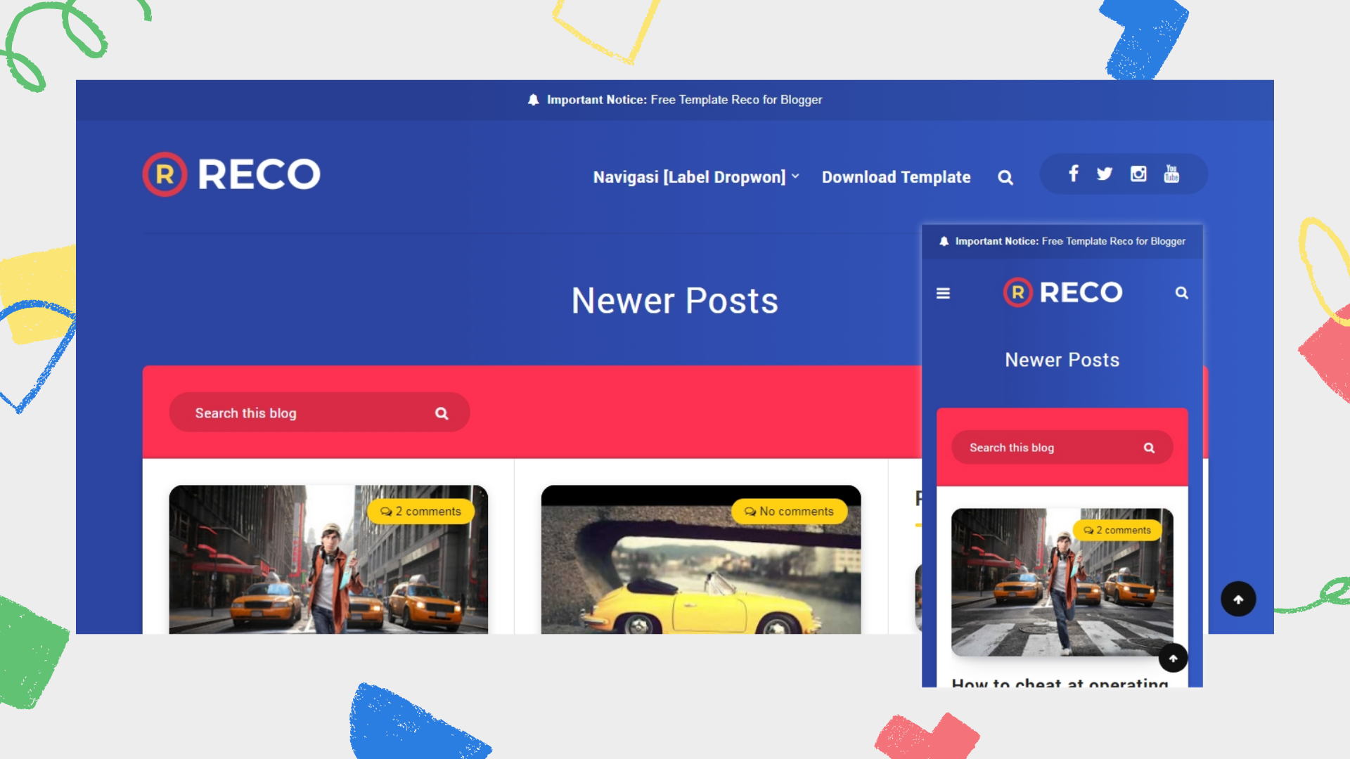 reco-responsive-blogger-template