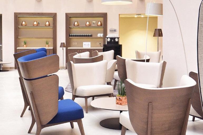 Hall de l'hôtel du Radisson Blu à Lyon
