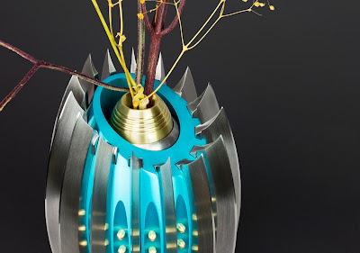 Knife, Knives, Metal Flower Vase