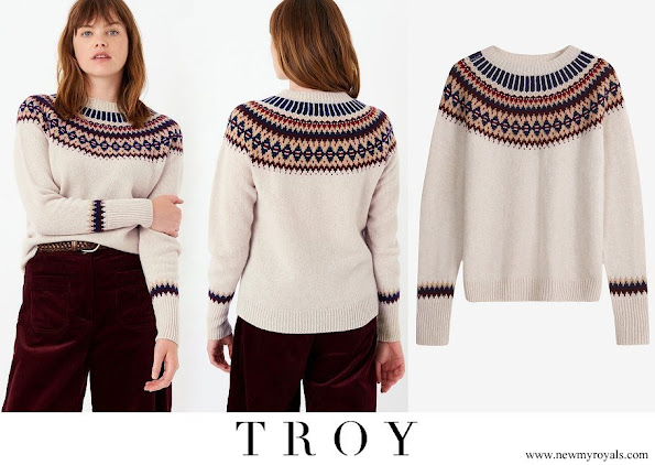 Kate Middleton wore TROY London supersoft lambswool fair isle jumper