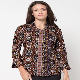 desain baju batik guru modern