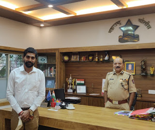 पुलिस आयुक्त बिपिन कुमार सिंह का अभिनंदन | #NayaSaberaNetwork