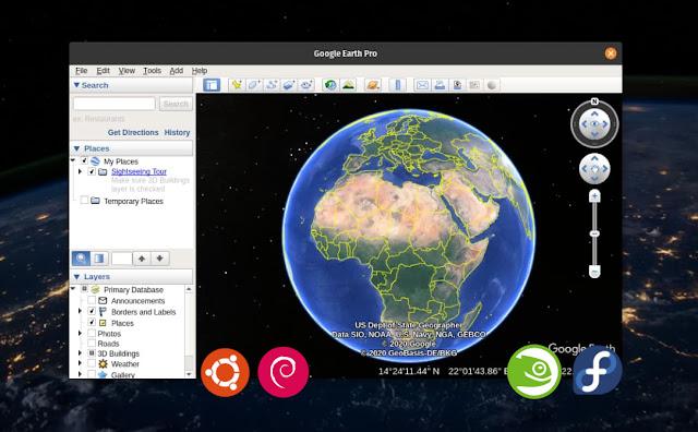 كيفية تثبيت برنامج Google Earth Pro على Linux