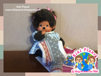 kiki monchhichi doll pull tricot knitting sweater handmade fait main gift cadeau