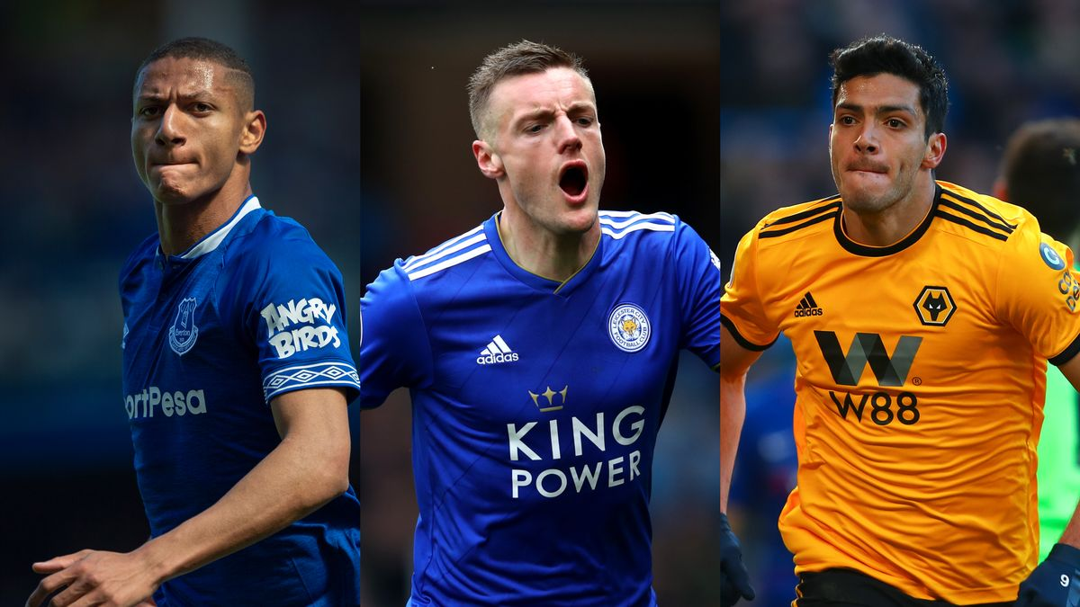 Richarlison, Jamie Vardy and Raul Jimenez