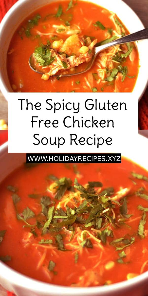 The Spicy Gluten Free Chicken Soup is a full on spice with a slight sweetness much like your favorite soup! Comes together quickly and is naturally gluten free so there is no guilt with this soup! #chickensoup #bestsoup #bestsouprecipe #spicy #spicysoup #glutenfree #glutenfreerecipe #glutenfreesoup #dinner #easydinner #bestdinnerrecipe #bestdinner #chickenrecipe #bestchickensoup #dish #maindish