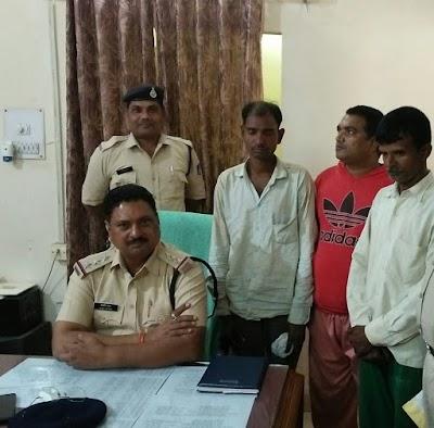 कोतवाली पुलिस ने पकडे तीन स्थाई वारंटी, शिवपुरी के दो ब्यक्ति शामिल