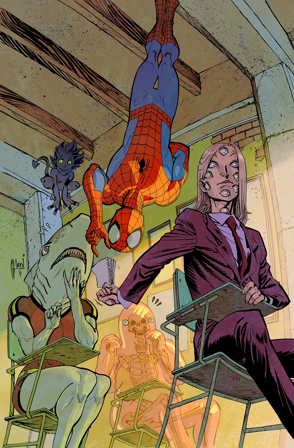 Making of the SPIDERMAN AND THE X-MEN #2 variant cover