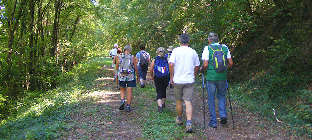 Walkers along the Sud Touraine Greenway. Indre et Loire. France. Photo by Loire Valley Time Travel.
