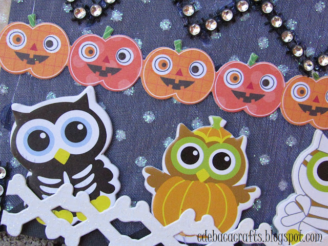 Halloween handmade card for kids by CdeBaca Crafts.