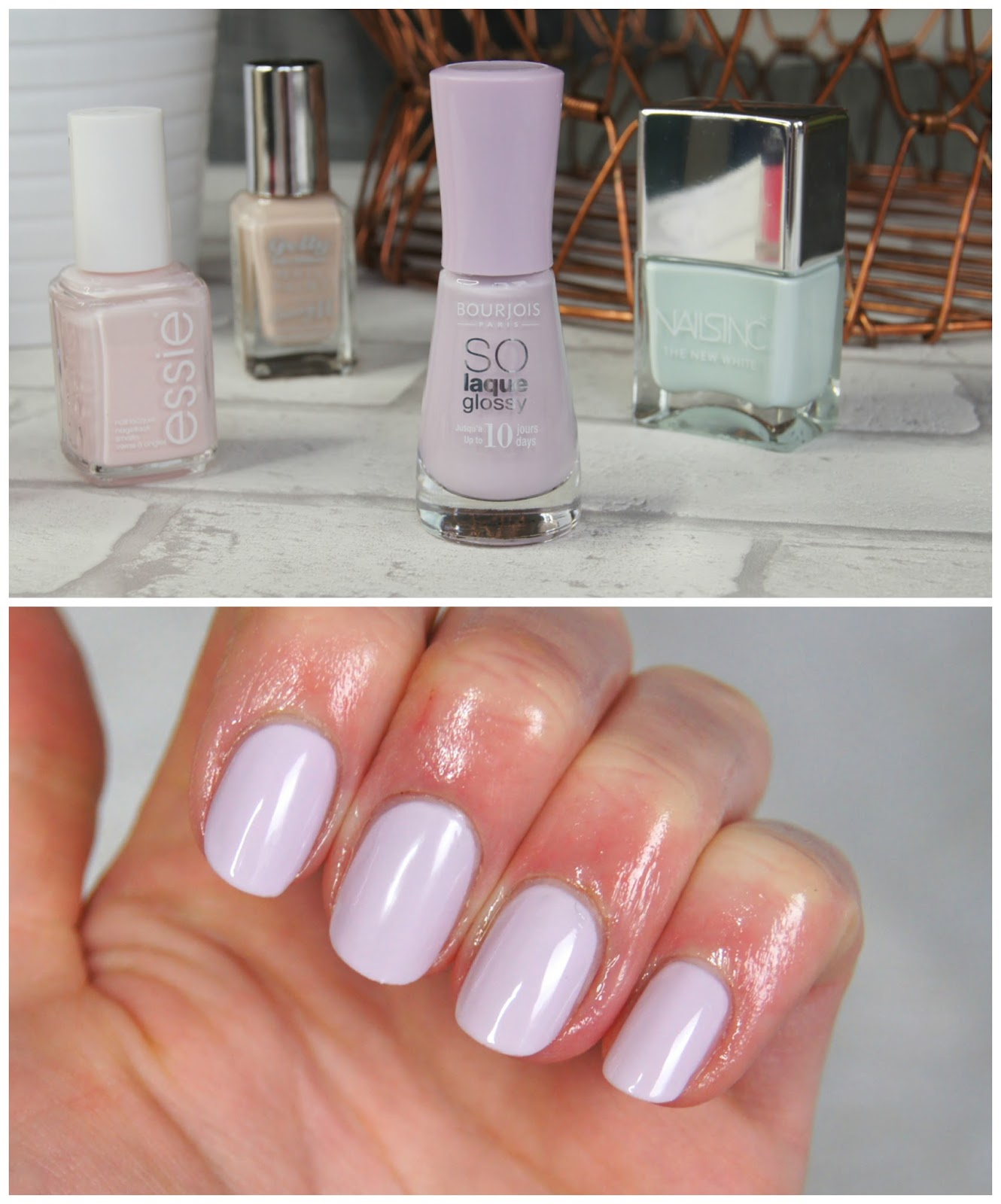 bourjois peace and mauve nail polish review swatch spring pastel lilac