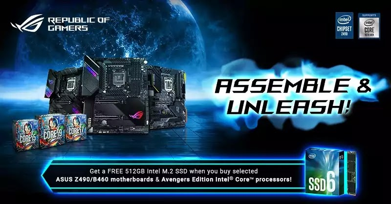 ASUS and Avengers Intel Promo