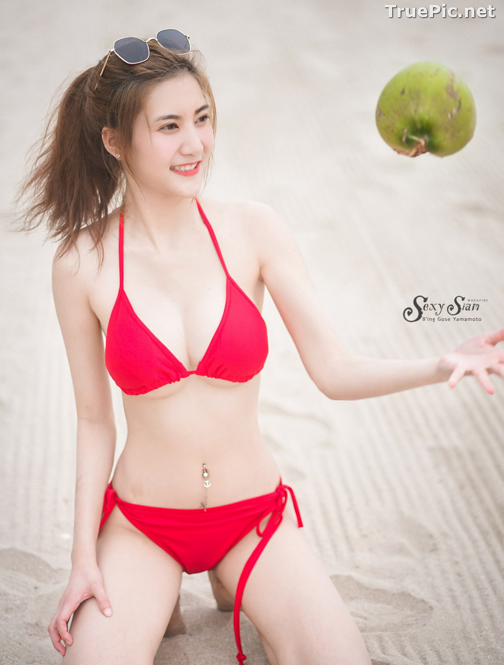 Image Thailand Model - Nitchakan Thongruangkitti - Red Fern Bikini - TruePic.net - Picture-4