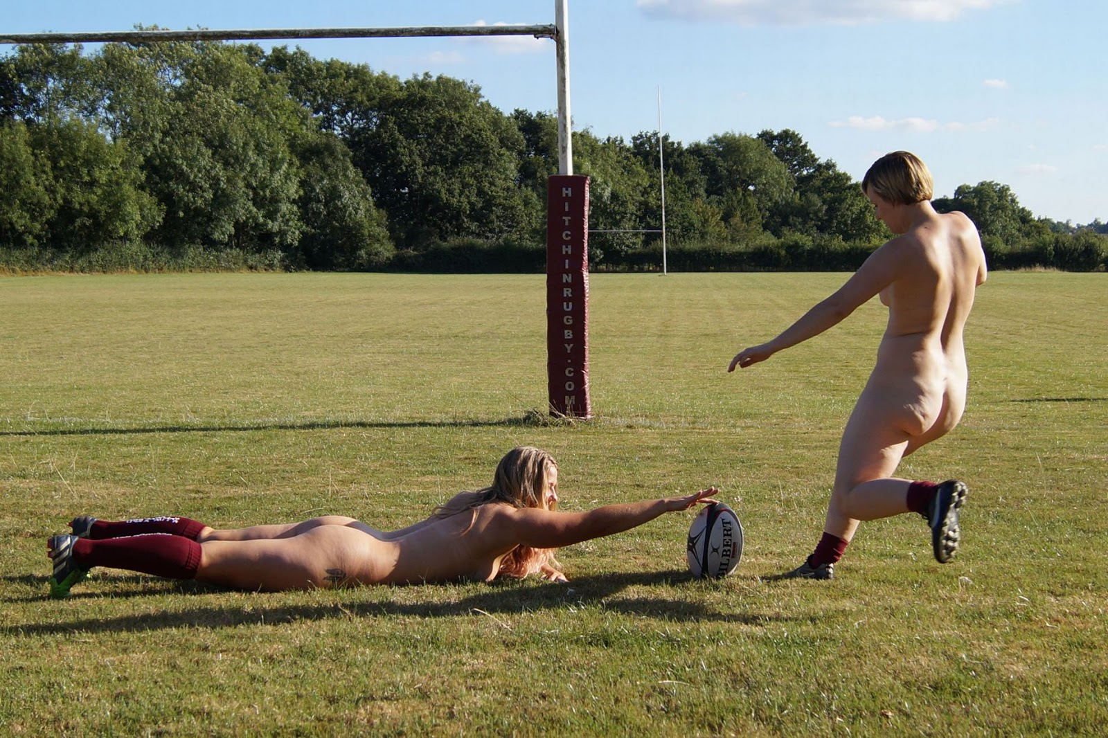 Nude Female Rugby Team