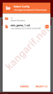 pilih config axis unlimited gaming