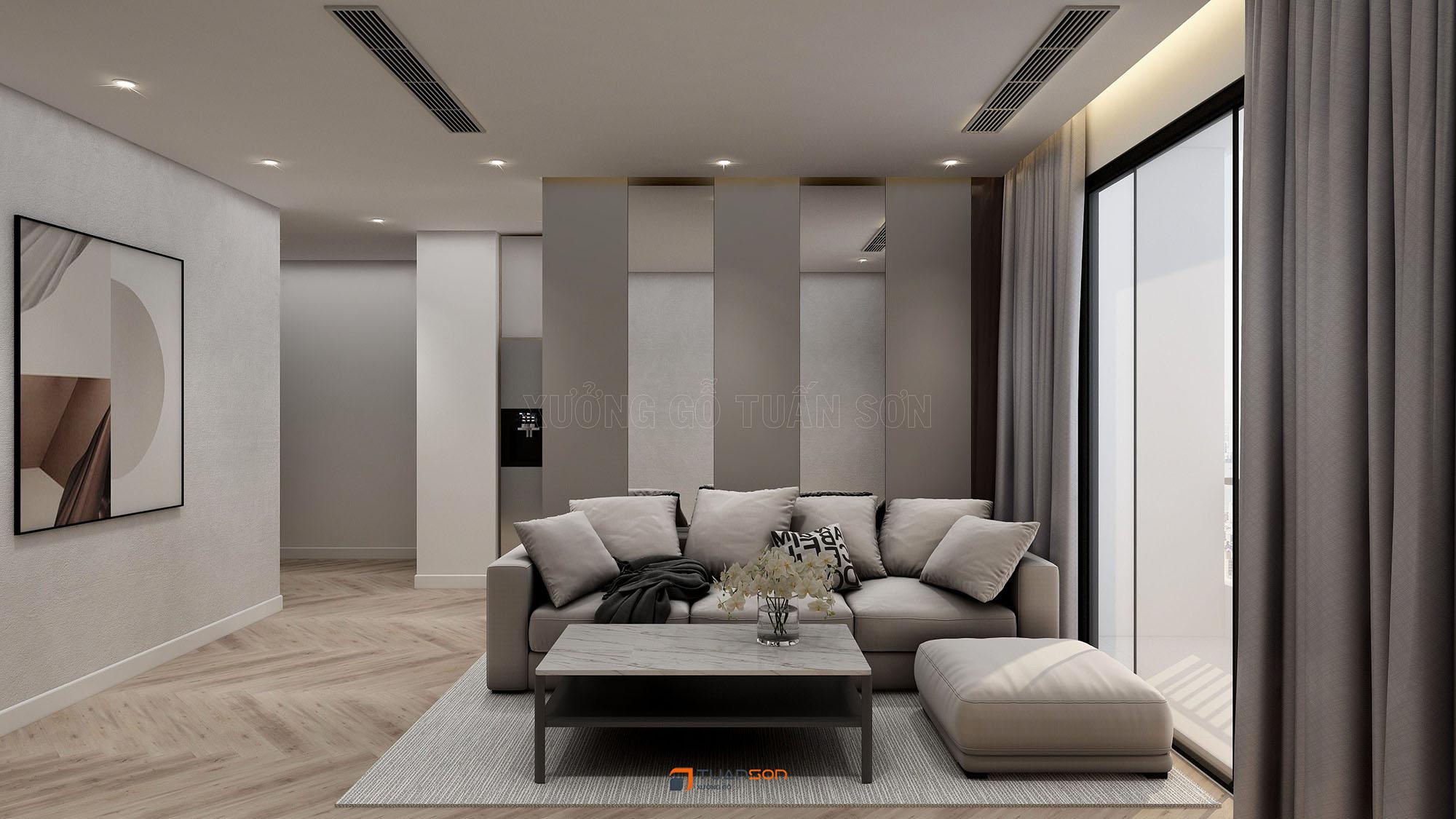 Thiết kế nội thất căn hộ 2 phòng ngủ The Tera An Hưng Tố Hữu