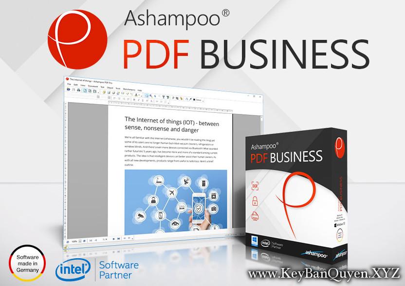 Ashampoo PDF Business 1.11 Full Key , Phù thủy file PDF và nhận dạng văn bản tự động OCR
