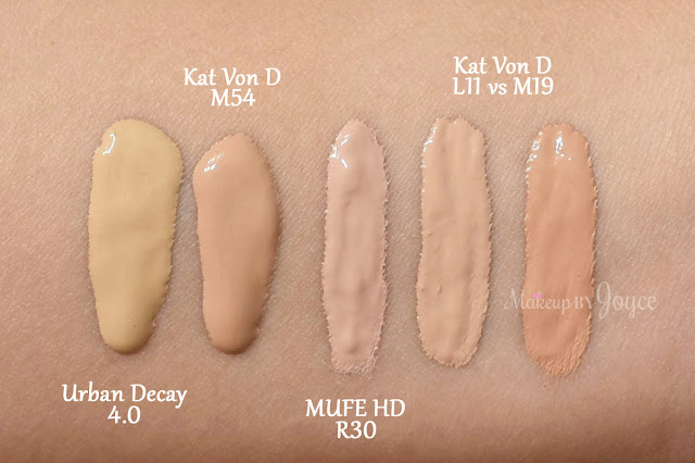 Kat Von D Lock It Concealer Creme Swatch NC30