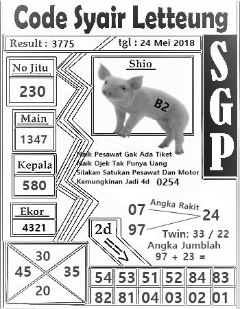 CODE SYAIR SINGAPURA PALING JITU 2018