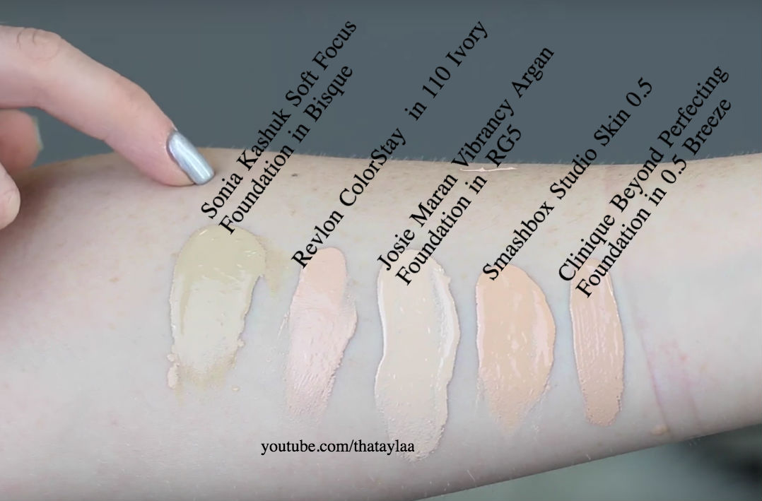 30 Palest Shades Of Different Foundations Swatched