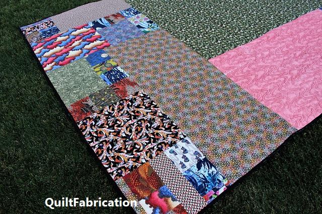 Kimono quilt backing closeup
