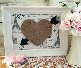 Vintage Paint and more... Valentine Wall Art made with thrift store finds.