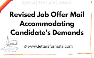 revised job offer letter sample