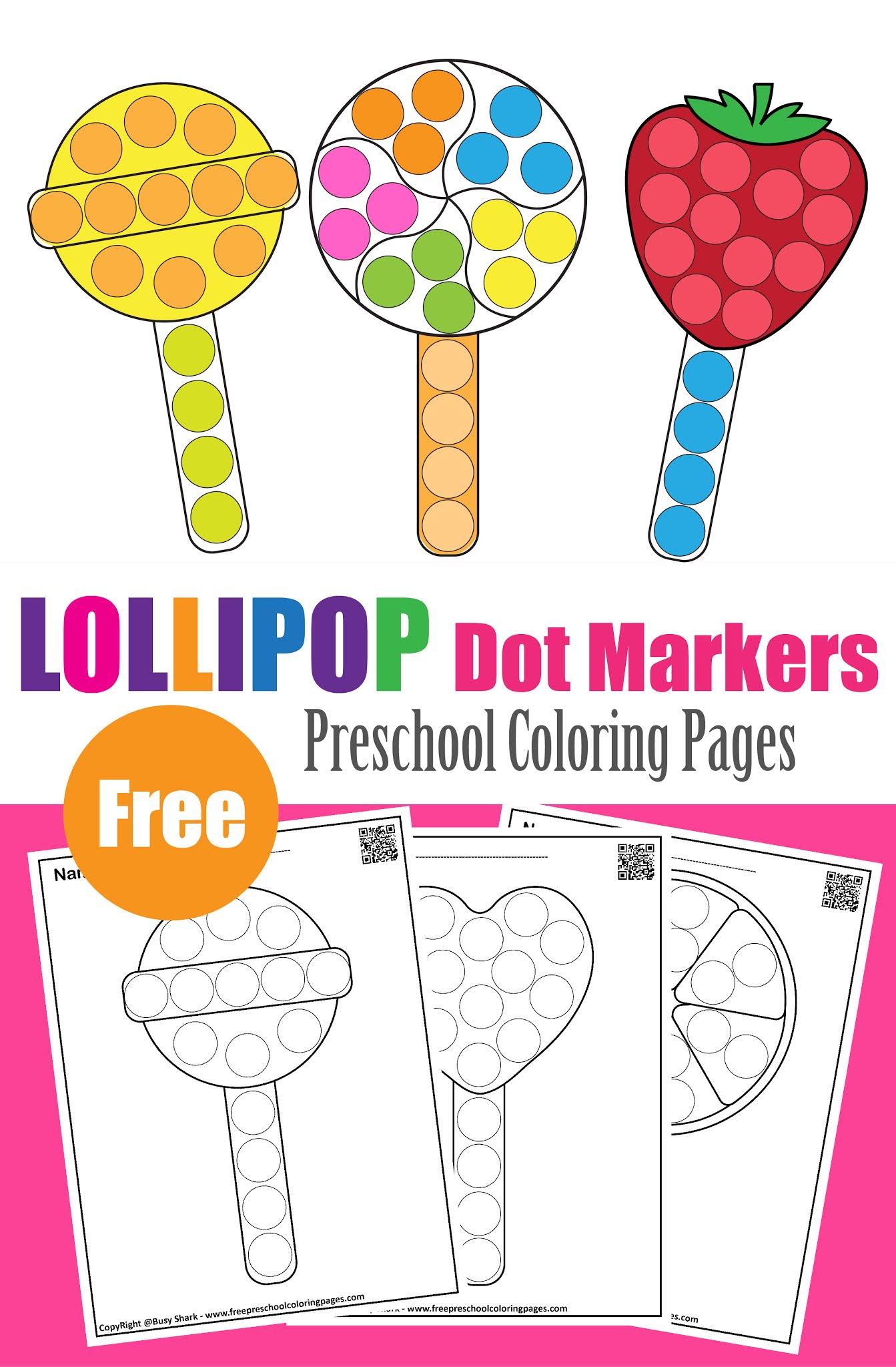 Lollipop Dot Markers Activity For Kids