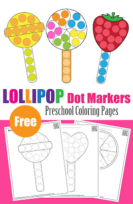 lollipop dot markers free preschool printables for kids to improve fine motor skills