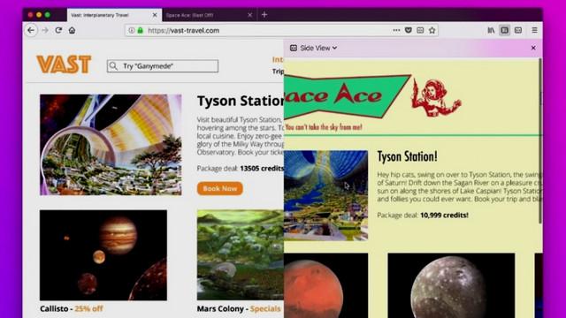 تفعيل ميزة Side View فى متصفح فايرفوكس لفتح أكثر من موقع على نفس الشاشة