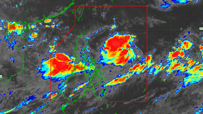 Satellite image of Tropical Depression Hanna as of 6:30 am, Sunday, August 4, 2019