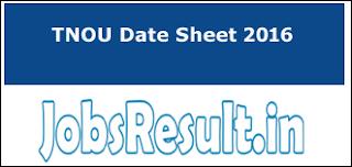 TNOU Date Sheet 2016