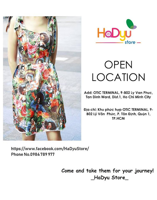 Hadyu Store thông báo mở cửa hàng và cập nhật địa chi mua hàng