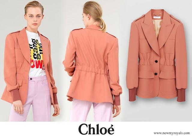 Kate Middleton wore Chloe Safari Wool Jacket in light grain de poudre