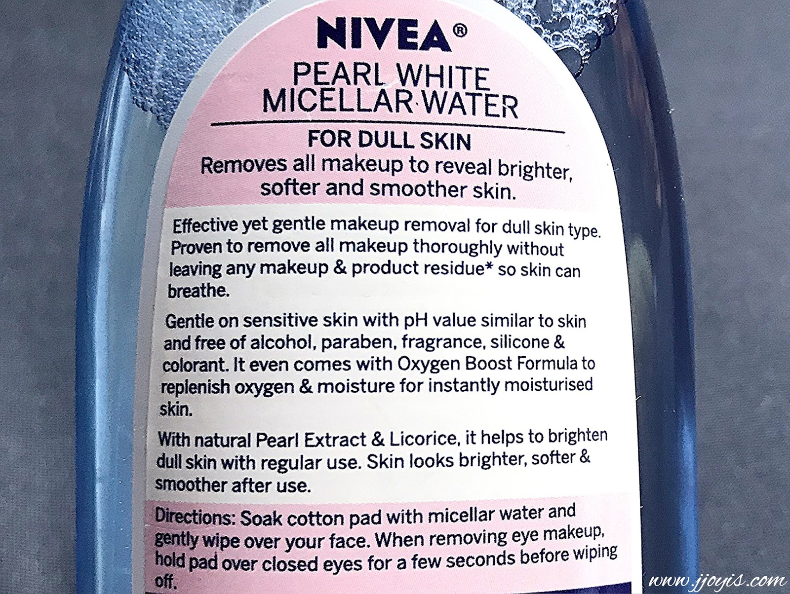 nivea pearl white micellar water review