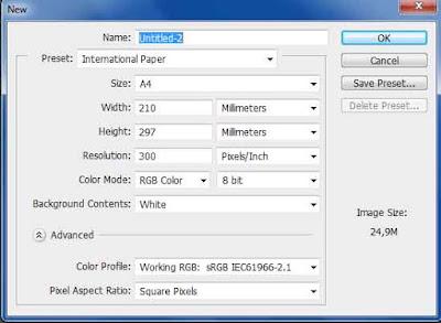 Cara Membuat Dokumen Baru di Photoshop
