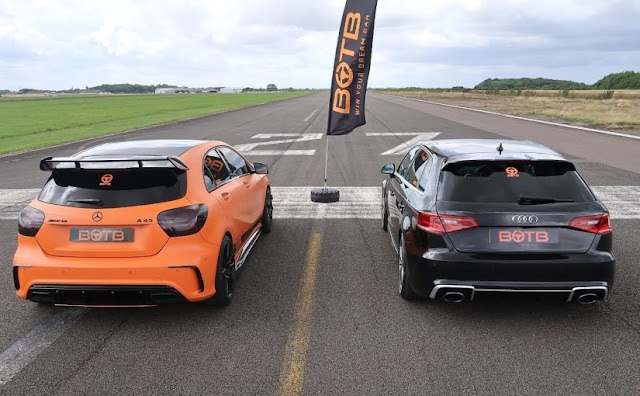 Vídeo: Audi RS3 x Mercedes A45 AMG - Drag Race
