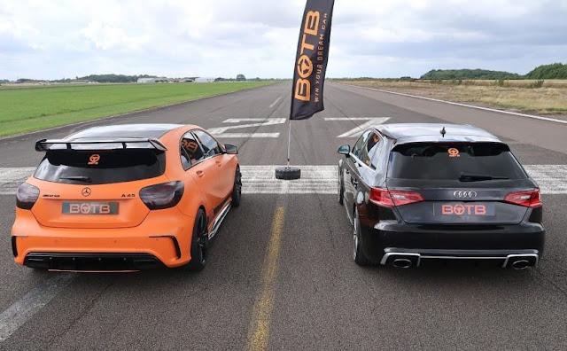 Vídeo: Audi RS3 x Mercedes A45 AMG - Drag Race