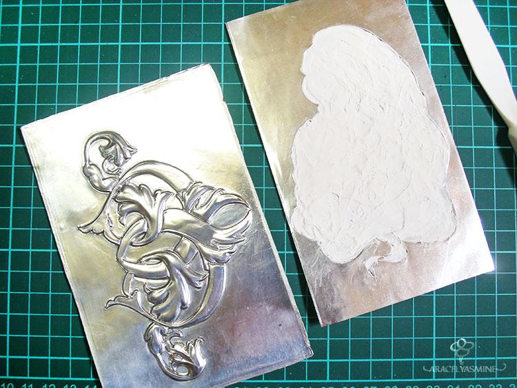 siempre debo de rellenar el repujado en aluminio