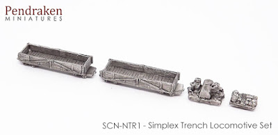 SCN-NTR1   Simplex trench locomotive set (1 locomotive, 2 wagons, 1 handcart)