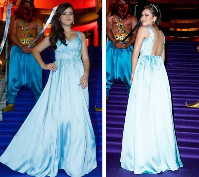 Vestido azul, Maisa Silva em Festa 15 anos