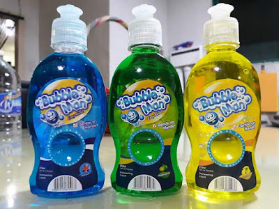 bubbleman dishwashing liquid